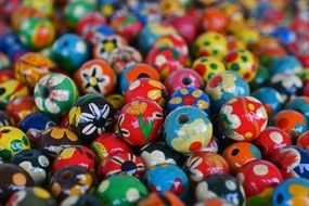 beads with a pattern