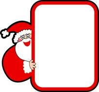 frame in Christmas theme