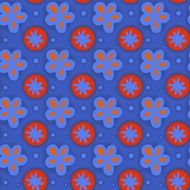 seamless floral pattern on the blue background
