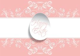 delicate pink easter greeting card