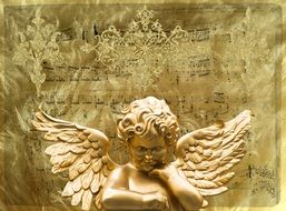 Angel Wing Angel Face Gold
