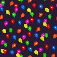 colorful balloons on the black background