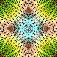 pattern with kaleidoscope design