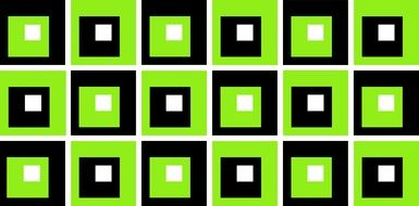 graphic black and green squares