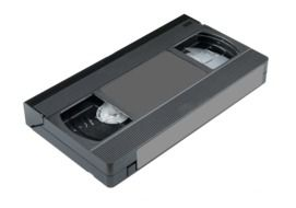 isolated videocassette