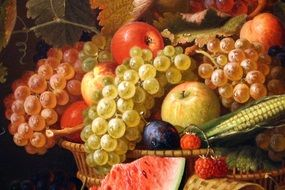 fruits still life painting