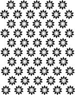 painted black flowers on a white background