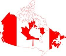 Flag Canada Geographical Map