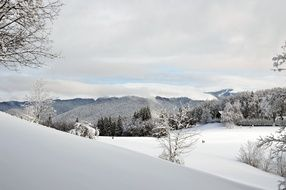 winter landscape on the mountain