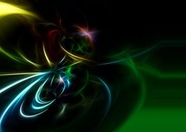 background with neon rainbow swirl