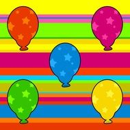colorful wallpaper with party balloons