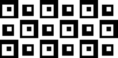 abstract black and white squares