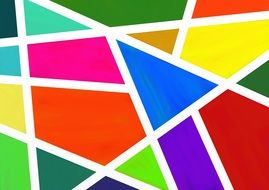 geometric color pattern
