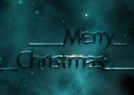 dark background with Christmas motif