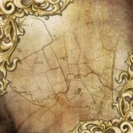 vintage background with old map pattern