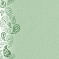 green background with paisley ornament