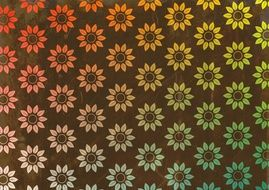 spring flowers on the wallpaper