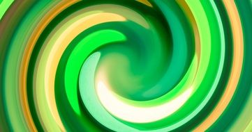 swirl of green and yellow