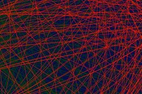 red and green geometric lines