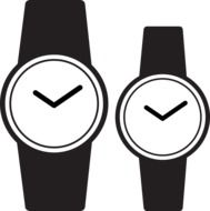 silhouettes of watches