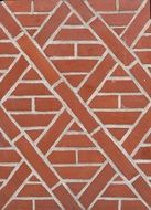 symmetrical brick wall
