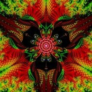 fractal colorful digital art