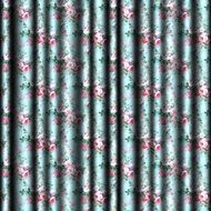 wallpaper with floral curtains
