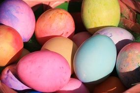 Easter Eggs Coloured Basket