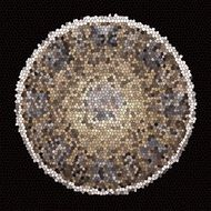 mosaic ball on a black background