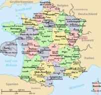 geographical map of France