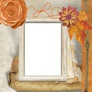 picture frame in retro style