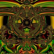 mystical fractal digital art