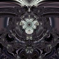 grey fractal digital art