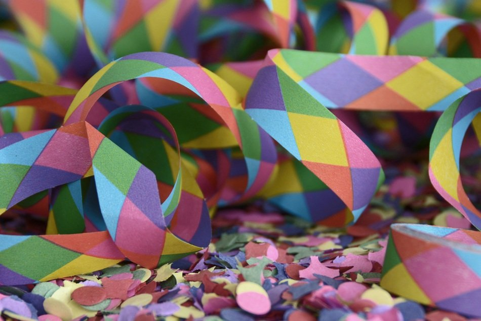 colorful confetti for a party