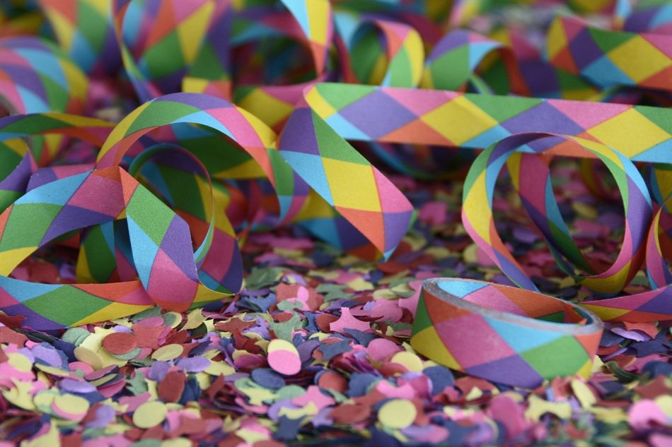 colorful confetti with for party