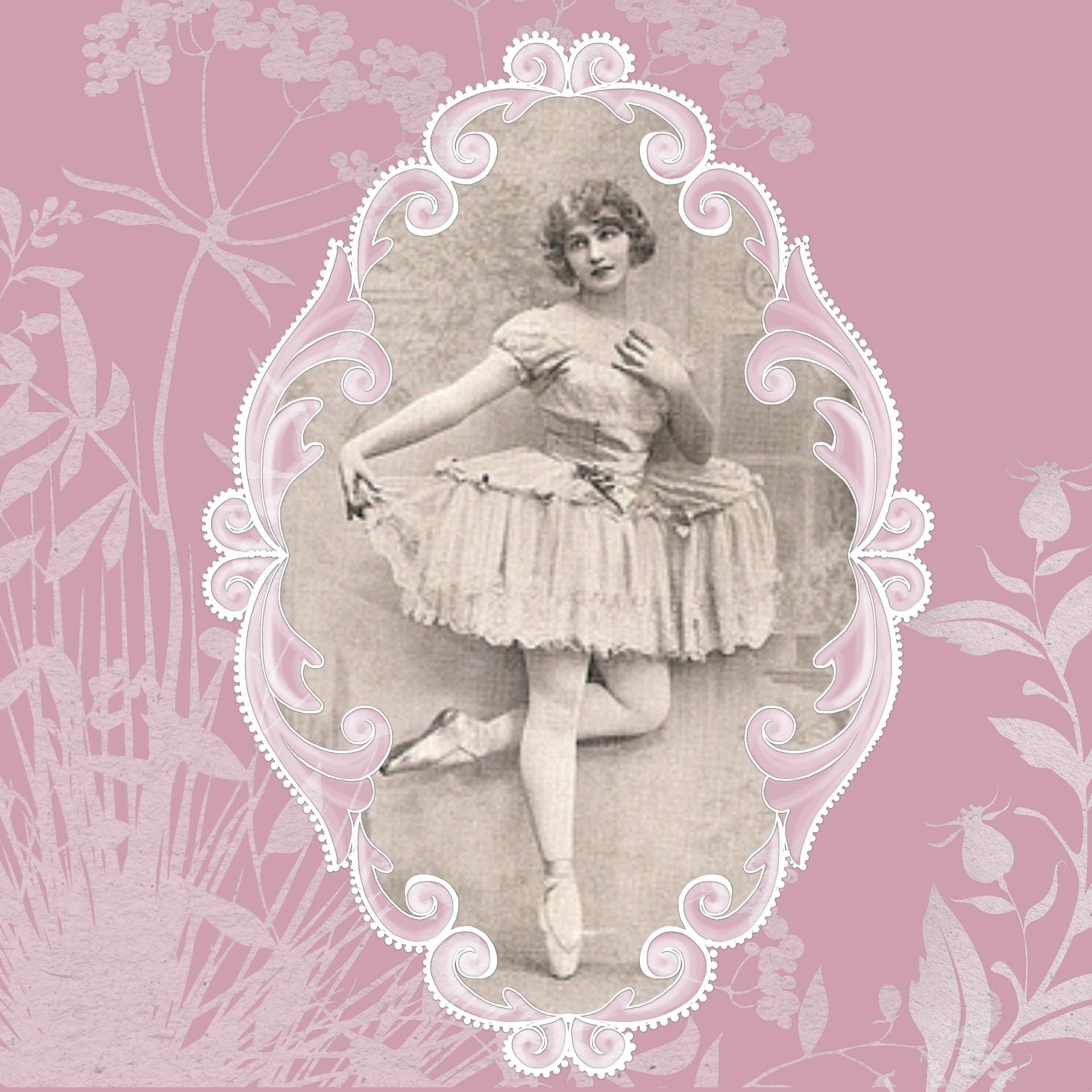 Открытки винтажные балерины