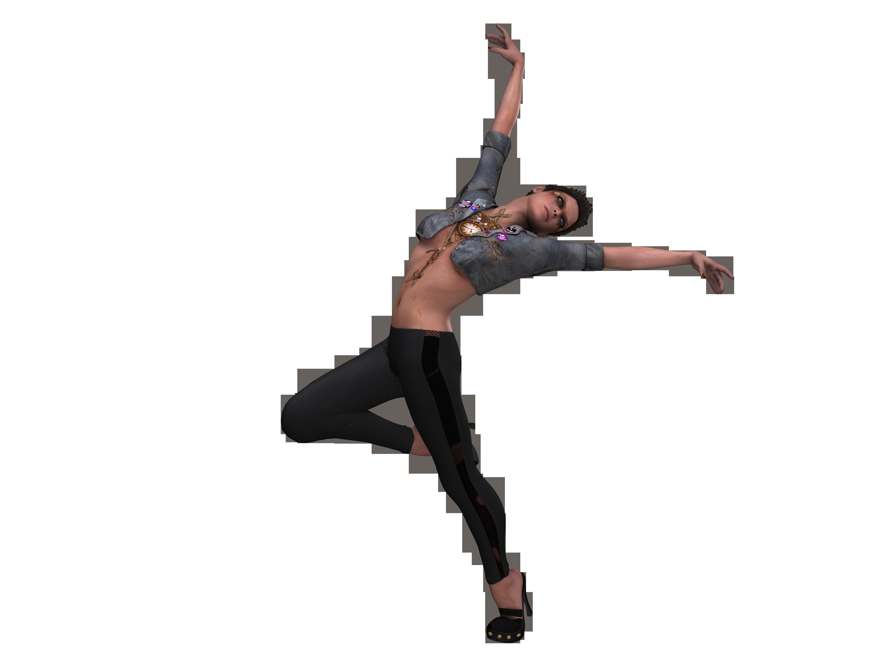 Прозрачная картинка танцоров