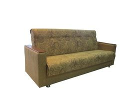 isolated upholstered couch