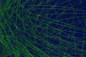 green chaotic lines on black background