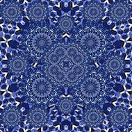 blue surreal graphic pattern