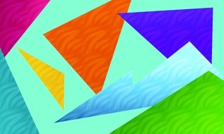 Pattern Colorful Triangle Form