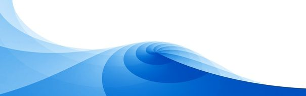 banner with a swirl of blue waves