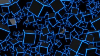 background of black cubes with blue corners