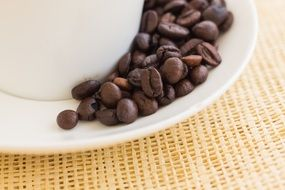 coffee beans in saucer