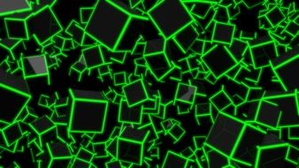 background of black cubes with green sides