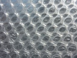 background with transparent bubble wrap