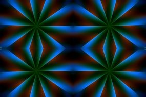 blue red geometric pattern