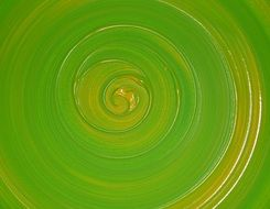 green spiral on green background