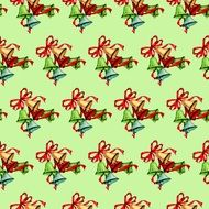 light green background with christmas bells