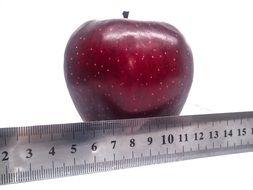 red apple and scale